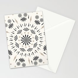 Snowflakes Scandic Nordic Stationery Cards