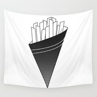 fries Wall Tapestries featuring French Fries frites by Keep It Simple