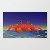 crab Canvas Prints featuring Crab by Katie Micks