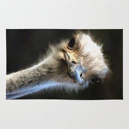 Ostrich Head Rug