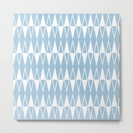 Mid Century Modern Diamond Pattern Pale Blue 234 Metal Print