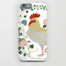 Rooster and morning glory iPhone 6s Slim Case