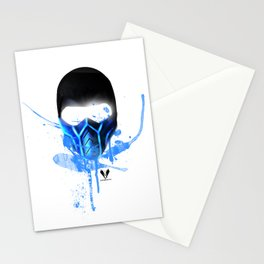 zero below white Stationery Cards