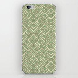 Paris - Classic Green Beige Geometric Minimalism iPhone Skin