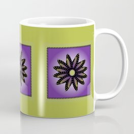 Purple Stitched Flower Coffee Mug