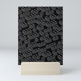 Building Blocks Pattern – Noir Mini Art Print