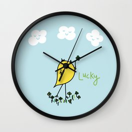 Chirp and Whistle Lucky Bird Wall Clock