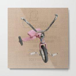 Pink Tricycle Metal Print