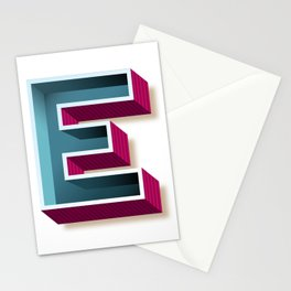 The Letter E Stationery Cards