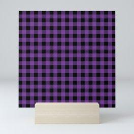 Plaid (purple/black) Mini Art Print