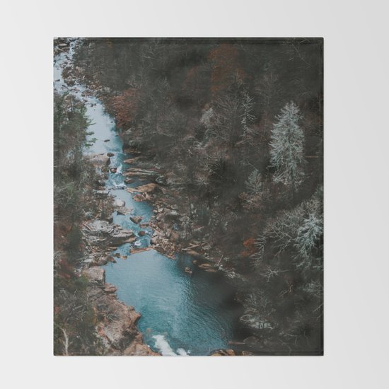 Blue Creek #landscape #society6 Throw Blanket