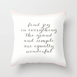 Equally Wonderful Throw Pillow