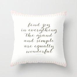 Equally Wonderful Throw Pillow