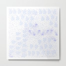 Blue circle on white Metal Print