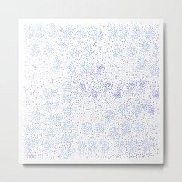 Blue circle on white Metal Print