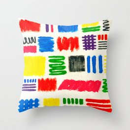 Dribble Scribble Throw Pillow