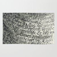 writing Area & Throw Rugs featuring ancient writing by Falko Follert Art-FF77