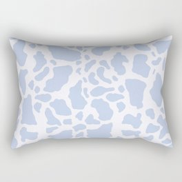 Blue Cow Print Rectangular Pillow