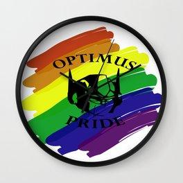 """""""OPTIMUS PRIDE"""" Wall Clock"""