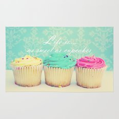 Life is as Sweet as Cupcakes Rug