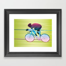 Time Trial Framed Art Print