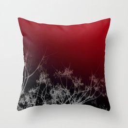 Tree Top-Red Throw Pillow