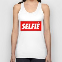 selfie Tank Tops featuring Selfie by Poppo Inc.