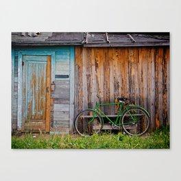 Countryside Cabin & Bike Canvas Print