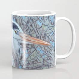 Grey Heron (Ardea Cinerea) Colored Pecncils Artwork Coffee Mug