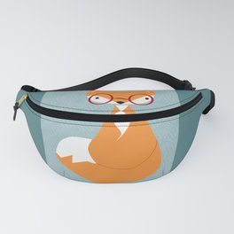 the fox with glasses Fanny Pack