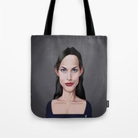 Tote Bags featuring Celebrity Sunday ~ Liv Tyler by rob art   illustration