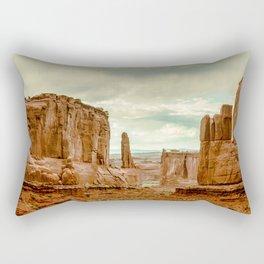 Utah - Red Sandstone Spires Rectangular Pillow
