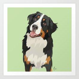 Belgian Shepherd Portrait Art Print