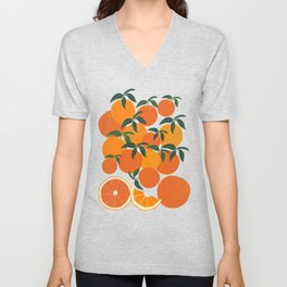 Orange Harvest - White Unisex V-Neck