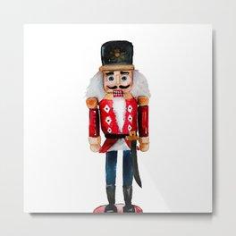 Watercolor nutcracker single  Metal Print