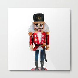 Watercolor nutcracker single  Metal Print