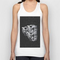 skulls Tank Tops featuring Skulls by Mrs Araneae