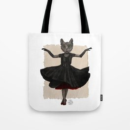 Twirling, Twirling, Couture Kitty Tote Bag