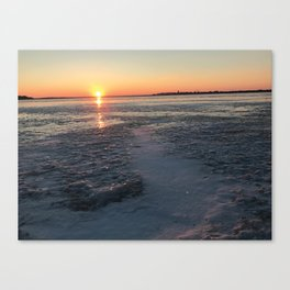 Sunset Brings A New Story Canvas Print