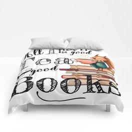 Tea & Books Comforters
