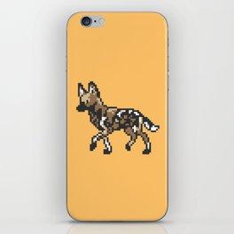 8-bit African Wild Dog iPhone Skin