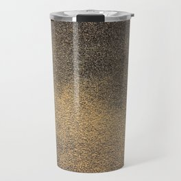 Black Yellow Sandpaper Texture Travel Mug
