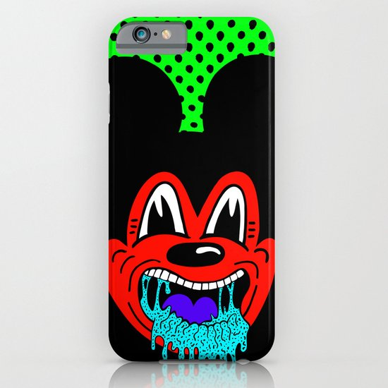 MOUSE SICK.  (On Green). iPhone & iPod Case