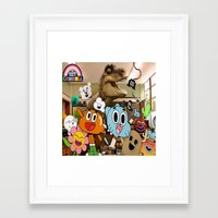 gumball Framed Art Prints featuring GUMBALL by rosita