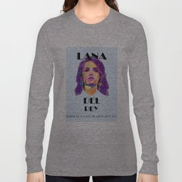 LanaDelRey HEAVEN IS A PLACE ON EARTH WITH YOU. Long Sleeve T-shirt