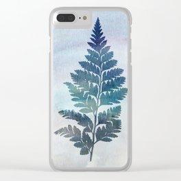 fern on waterfolor Clear iPhone Case
