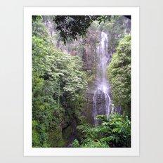 Maui Hawaii - Haleakala National Park Waterfall Art Print