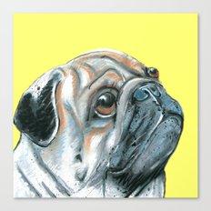 Pug, printed from an original painting by Jiri Bures Canvas Print