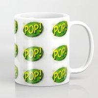 pop art Mugs featuring Pop! by KitschyPopShop