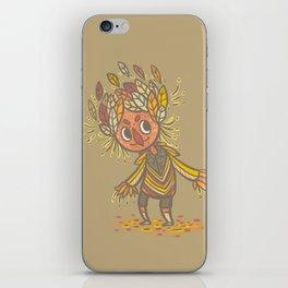 Fall buddy iPhone Skin